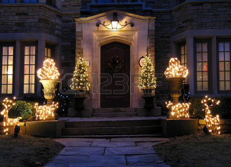 27764815-front-door-with-holiday-lights-chicago-2009